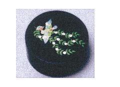 ◇香合 木粉樹脂製 加賀高蒔絵香合 花喰鳥蒔絵