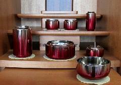 ◆具足セット 昴 6具足 + 鳳雲リン2.5寸 ワインぼかし色艶