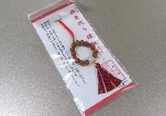 ○欅身代わり数珠 根付&ストラップ 赤瑪瑙