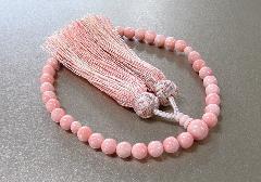 ■女性用片手念珠 さくら貝共仕立 正絹三色房 桐箱入