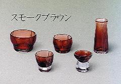 ◆手作りガラス佛具5点セット かれん スモークブラウン