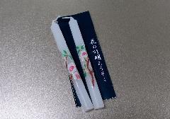 ●絵ローソク 花の灯明ローソク 2本入 3月桃 1号5