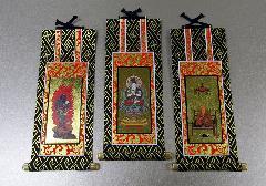 ■仏壇用掛軸 オリジナル 真言宗 三幅 19.5×9.1�p ※在庫処分特価品