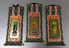 ●仏壇用掛軸 オリジナル 浄土宗 三幅 19.5×9.1�p
