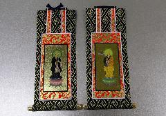 ■仏壇用掛軸 オリジナル 浄土宗 両脇のみ 19.5×9.1�p ※在庫処分特価品