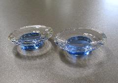★水晶仏具 供物台3.0寸 一対