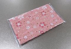 ☆経本・念珠入 ビニールカバー付 西陣織 桜