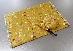 ●リン布団・リン棒・経机敷セット 美桜 黄