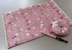 ●リン布団・リン棒・経机敷セット 美桜 ピンク
