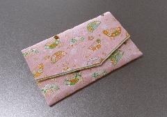 ○念珠袋・数珠袋 ふたえ上錦 ピンク系