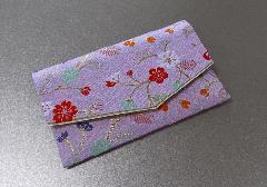 ○念珠袋・数珠袋 ふたえ上錦 薄紫系