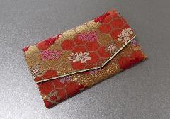 □念珠袋・数珠袋 ふたえ上錦 赤・オレンジ系