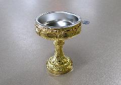 ◆仏飯器 極上深彫蓮仏器 本金メッキ #10 落とし付