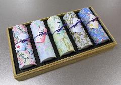 ■煙の少ないお線香 花くらべ 桐箱入 5種類の香りの詰合せ 【奥野晴明堂】
