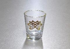 ●ガラスコップ 上金ハス 小