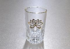 ●ガラスコップ 上金ハス 中