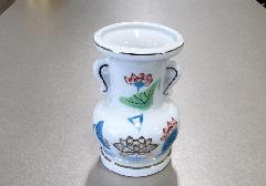 ●花瓶・花立 大玉仏花 金ハス吹 4.5寸