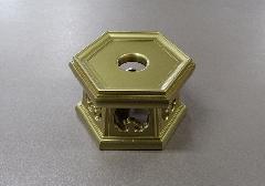 ◇PC 六角リン台 金粉塗 4.5寸