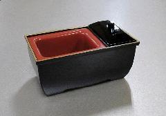 ■焼香用香炉台 やすらぎ香炉5.0寸 黒フチ金