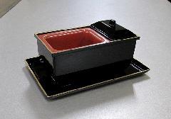 ■やすらぎ香炉5.0寸 黒フチ金 + 名刺盆 小 セット 【サンメニー】
