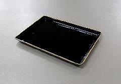 ■名刺盆 小 黒フチ金・朱フチ金 PC製