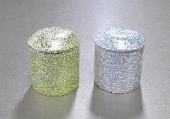 ▲骨壺・骨壷 骨カメ 金チヂミ・銀チヂミ 2.0寸×ケース(6ヶ入)