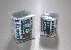●緑茶キャンドル 故人の好物ローソク 大・小 【カメヤマ】
