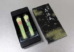 ◆絵ローソク 特選 花源氏 桔梗