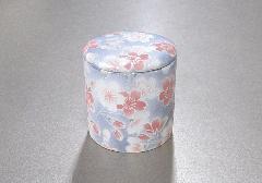 ■骨壺・骨壷 シリコン付骨カメ 2.0寸 桜ころも ブルー