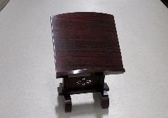 ★本紫檀透彫見台 3.5寸 摺漆仕上