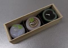 ●夏の和菓子キャンドル ※訳アリ特価品 【カメヤマ】