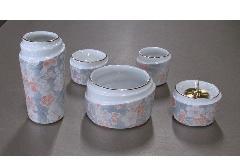 ◇さざなみ5点セット (陶器製) 千年桜