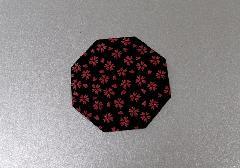 ◆印伝調仏具敷 特小 1枚 小桜エンジ