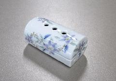 ■美濃焼筒型香彩器 �N紫鉄仙