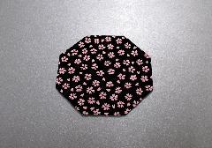◆印伝調仏具敷 小 1枚 小桜ピンク