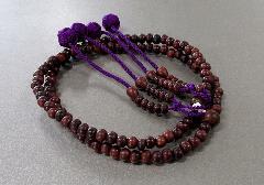 ●8寸振分 素挽紫檀 共仕立 かがり梵天 桐箱入