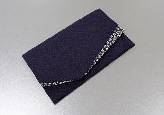 ○小花ちりめん金封ふくさ 紫 670-1