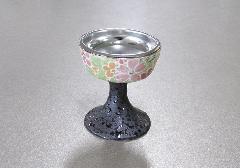 ◆花影 仏飯器・仏器 落とし付 有田焼 小花