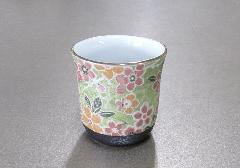 ■花影 湯呑・茶湯器 有田焼 小花