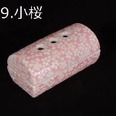 ◇美濃焼筒型香彩器 �H小桜