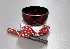 ◆リンセット なごみリン2.8寸ワインフチ金・リン布団芽生・リン棒芽生