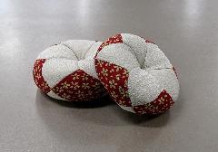 □丸リン布団 芽生 2.5号 赤白