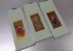 ◆仏壇用掛軸 もえぎ 大 曹洞宗用 三幅