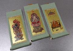 ◆仏壇用掛軸 もえぎ 小 真言宗用 三幅