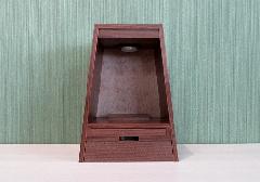 ●家具調 上置仏壇 ミニ仏壇 ガレ オールナット