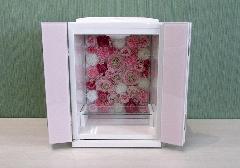 ◆家具調 上置仏壇 ミニ仏壇 ミラード ピンク
