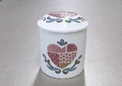 ◆マイリトル骨壷・骨壺 ハートキルト 2.0寸