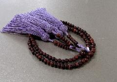 ◆8寸振分 素挽紫檀 共仕立 正絹頭房 桐箱入