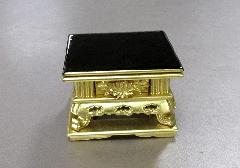 ◆花鋲卓 2.5寸 前金彫入