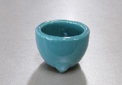 ●青磁 玉香炉 2.8寸 浄土真宗本願寺派(西)用香炉